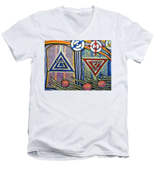 Witness Men's V-Neck T-Shirt by Luke Galutia