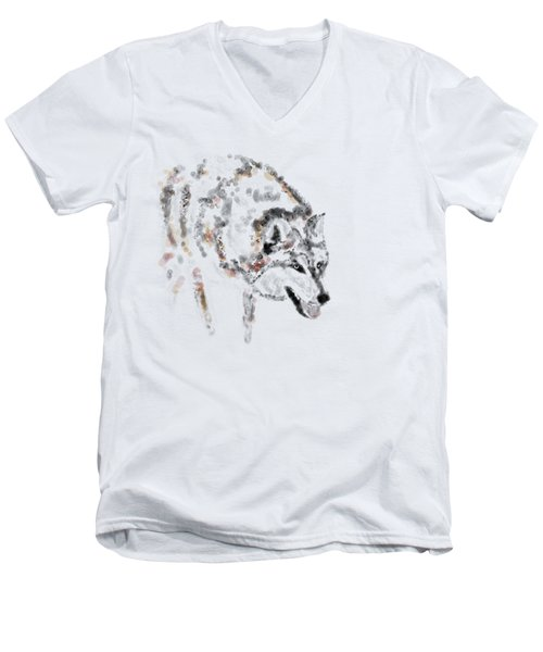 Wolf Men's V-Neck T-Shirt