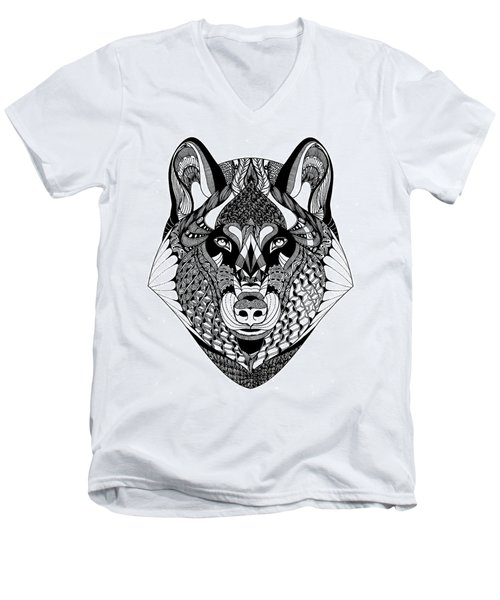 Wolf Men's V-Neck T-Shirt