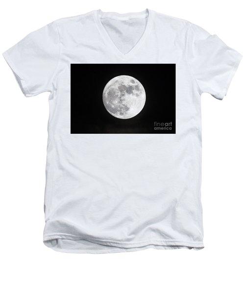 Wolf Moon Men's V-Neck T-Shirt