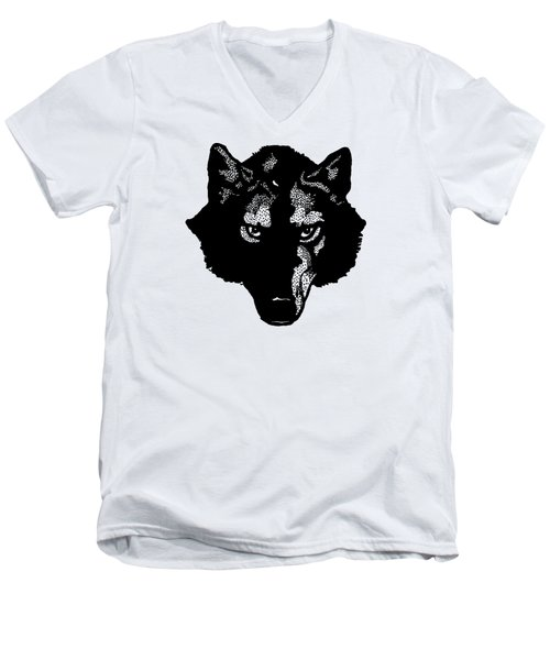 Wolf Tee Men's V-Neck T-Shirt by Edward Fielding
