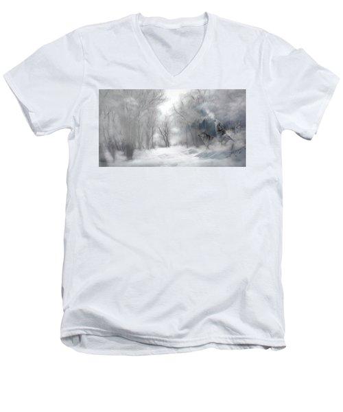 Wolves In The Mist Men's V-Neck T-Shirt