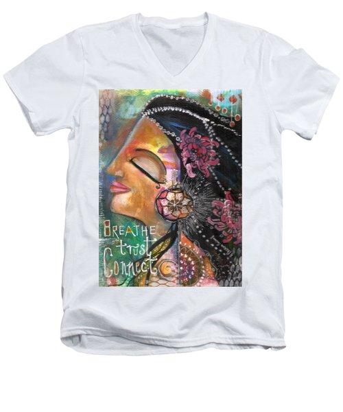 Woman Art Men's V-Neck T-Shirt