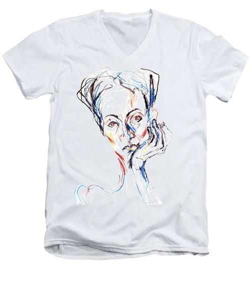 Woman Expression Men's V-Neck T-Shirt