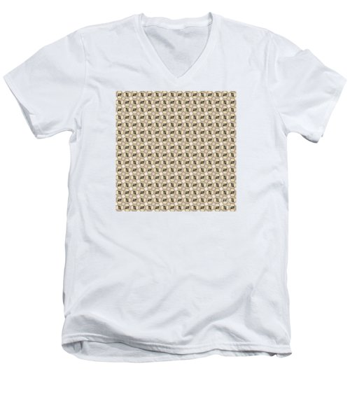 Woman Image Ten Men's V-Neck T-Shirt by Jack Dillhunt