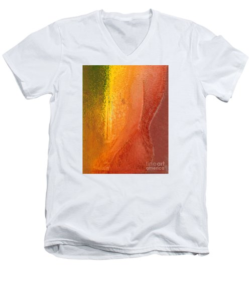 Men's V-Neck T-Shirt featuring the digital art Woman In Window Light by Haleh Mahbod