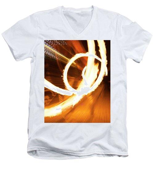 Woman On Fire Men's V-Neck T-Shirt