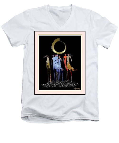 Women Chanting - Enso  Men's V-Neck T-Shirt