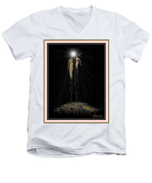 Women Chanting - Full Moon On The Mountain Men's V-Neck T-Shirt