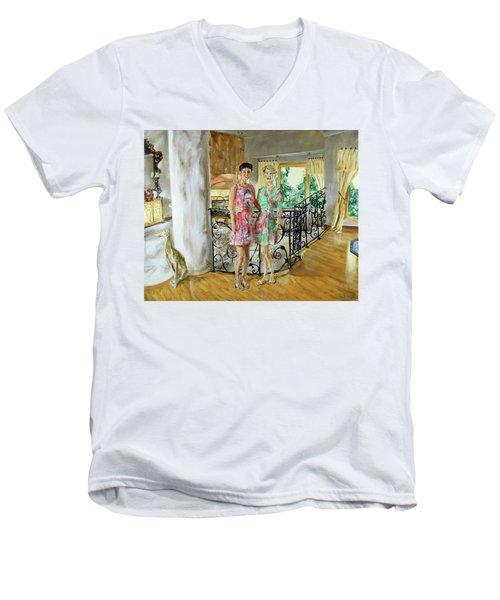 Women In Sunroom Men's V-Neck T-Shirt