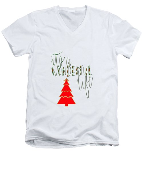 Wonderful Life Men's V-Neck T-Shirt