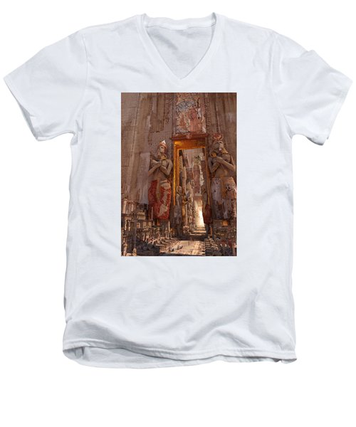 Wonders Door To The Luxor Men's V-Neck T-Shirt by Te Hu