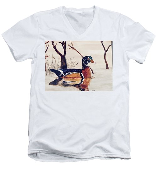 Wood Duck No. 2 Men's V-Neck T-Shirt