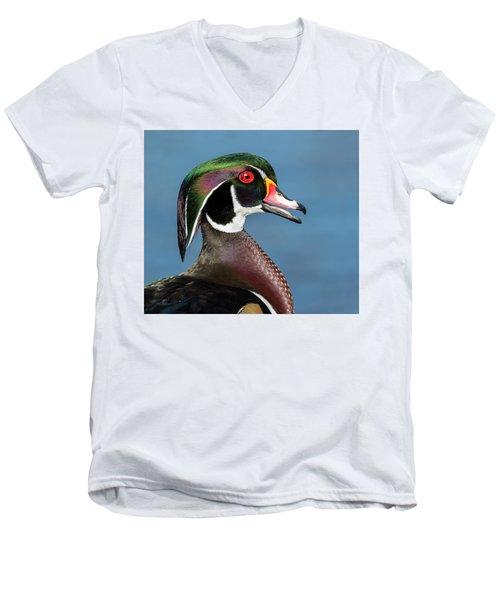 Wood Duck Portrait Men's V-Neck T-Shirt