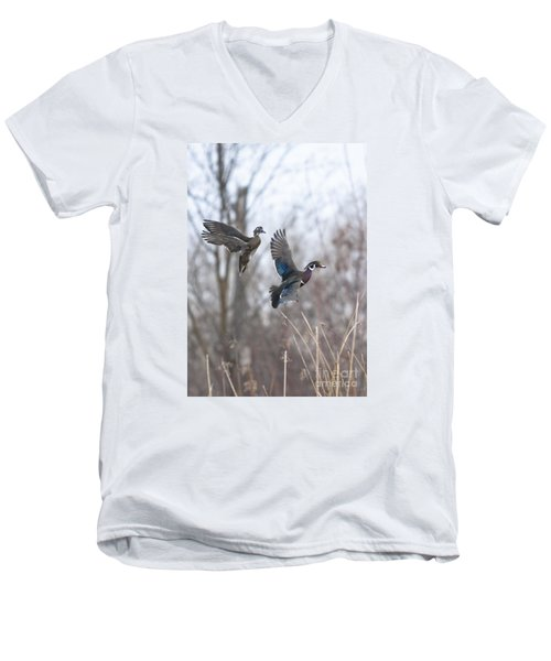 Wood Flight Men's V-Neck T-Shirt