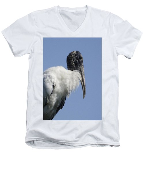 Wood Stork Portrail Men's V-Neck T-Shirt