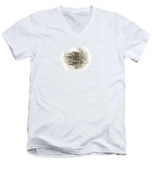 Wooden Bridge Men's V-Neck T-Shirt by Maciek Froncisz