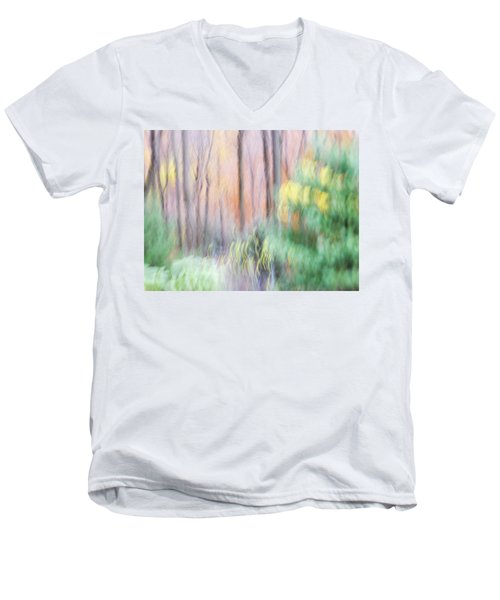 Woodland Hues 2 Men's V-Neck T-Shirt