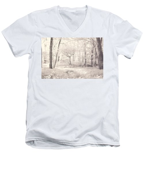 Men's V-Neck T-Shirt featuring the photograph Woodland by Keith Elliott