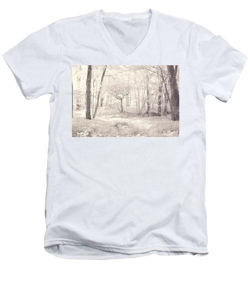 Woodland Men's V-Neck T-Shirt by Keith Elliott