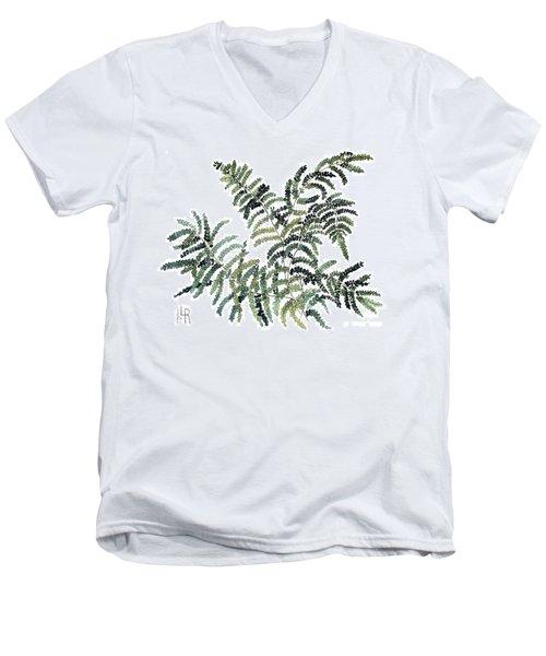 Woodland Maiden Fern Men's V-Neck T-Shirt