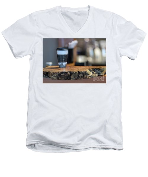 Men's V-Neck T-Shirt featuring the photograph Woods Coffee by Jim  Hatch