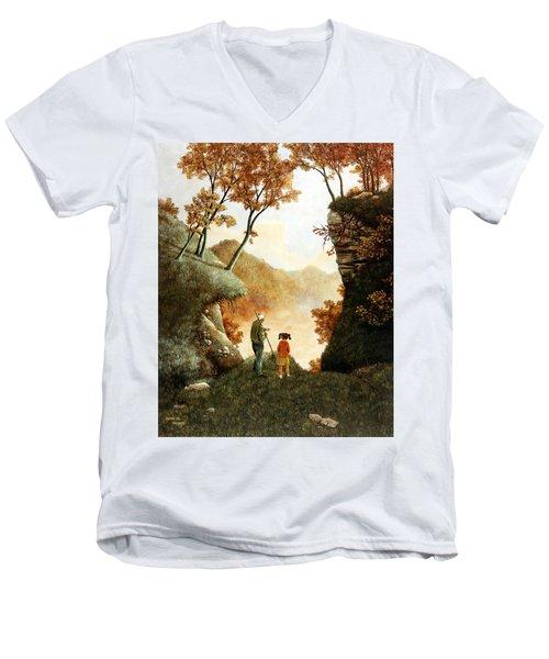 Words Of Wisdom Men's V-Neck T-Shirt by Duane R Probus
