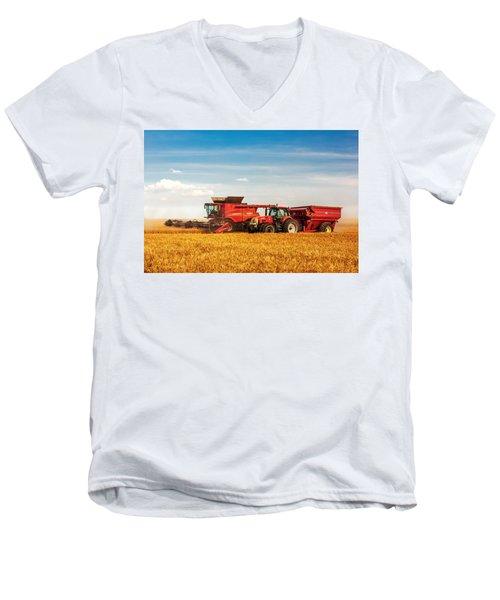 Working Side-by-side Men's V-Neck T-Shirt
