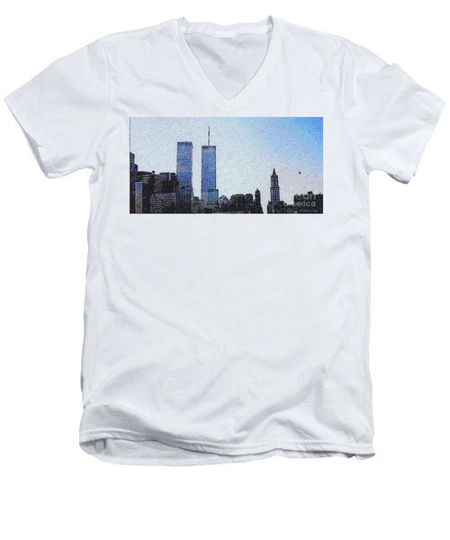 World Trade Center Once Upon A Time... Men's V-Neck T-Shirt