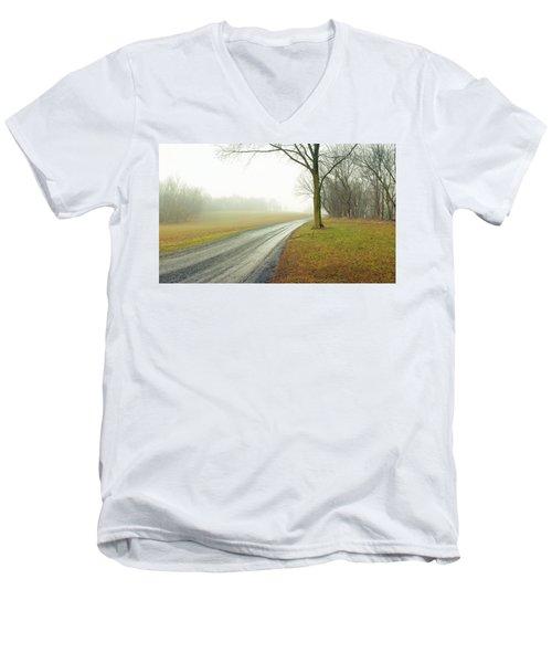 Worthington Lane Men's V-Neck T-Shirt by Jan W Faul
