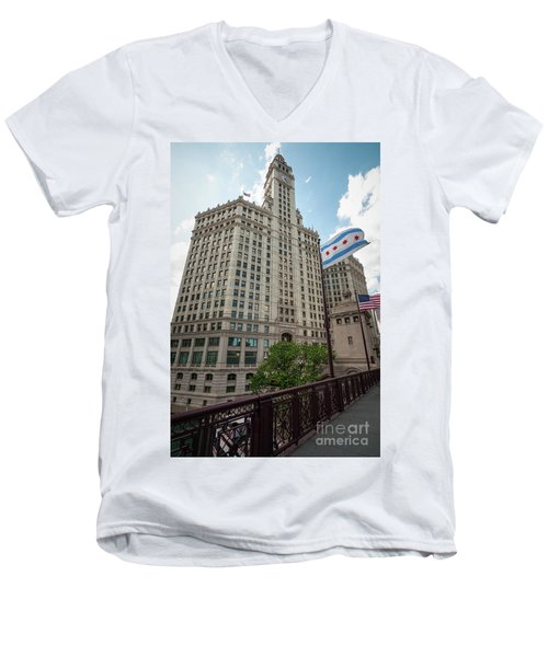 Wrigley Building Men's V-Neck T-Shirt