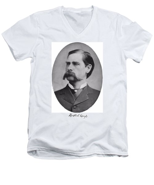 Wyatt Earp Autographed Men's V-Neck T-Shirt