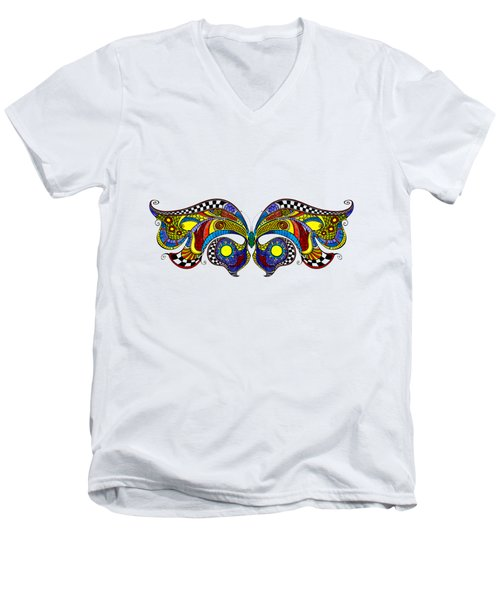 Chrysalis Men's V-Neck T-Shirt by Dar Freeland