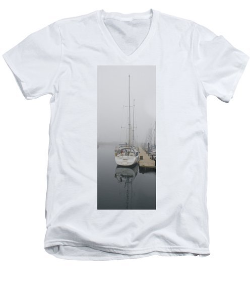 Yacht Doesn't Go In The Fog Men's V-Neck T-Shirt
