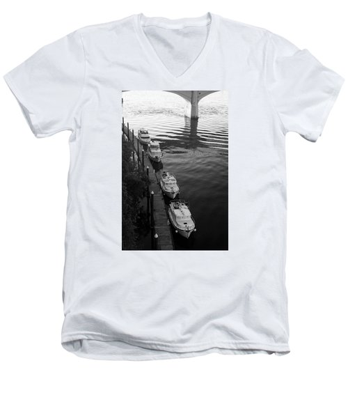 Yachts At Dock Men's V-Neck T-Shirt