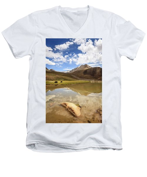 Yaks In Ladakh Men's V-Neck T-Shirt