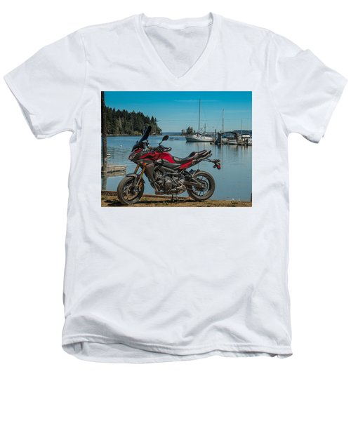 Yamaha Fj-09 .6 Men's V-Neck T-Shirt by E Faithe Lester