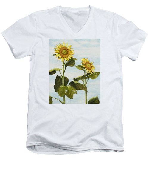 Yana's Sunflowers Men's V-Neck T-Shirt