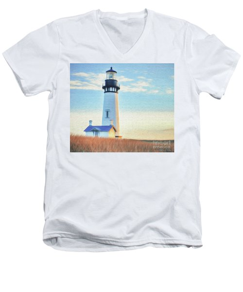 Yaquina Head Lighthouse Men's V-Neck T-Shirt