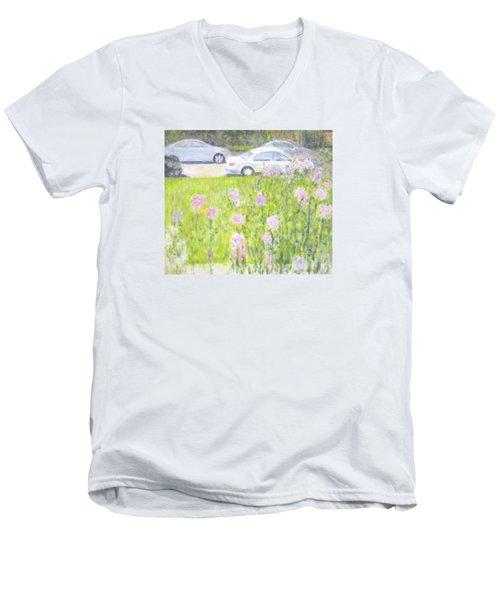 Yard Flowers  In Chicago Men's V-Neck T-Shirt