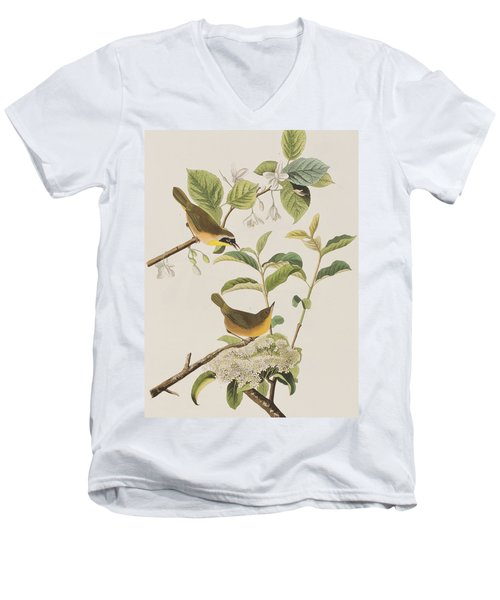 Yellow-breasted Warbler Men's V-Neck T-Shirt by John James Audubon