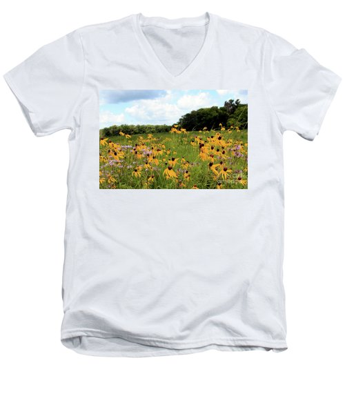 Yellow Cone Flowers Men's V-Neck T-Shirt