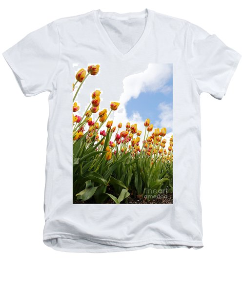 Men's V-Neck T-Shirt featuring the photograph Yellow Fever by Robert Pearson