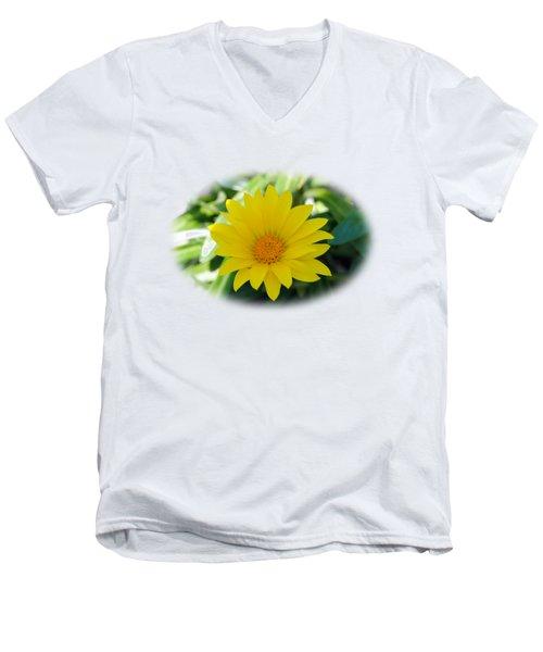 Yellow Flower T-shirt Men's V-Neck T-Shirt