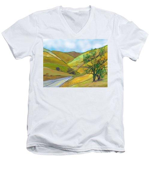 Yellow Foothills Men's V-Neck T-Shirt