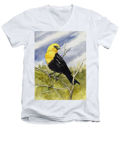 Yellow-headed Blackbird Men's V-Neck T-Shirt