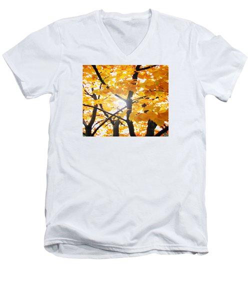 Yellow Light Men's V-Neck T-Shirt