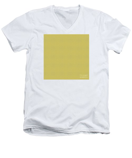 Yellow Weave Men's V-Neck T-Shirt