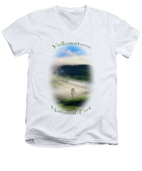 Yellowstone T-shirt Men's V-Neck T-Shirt by Greg Norrell