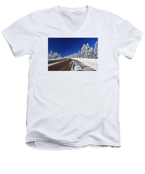 Men's V-Neck T-Shirt featuring the photograph Yes Its Arizona by Gary Kaylor